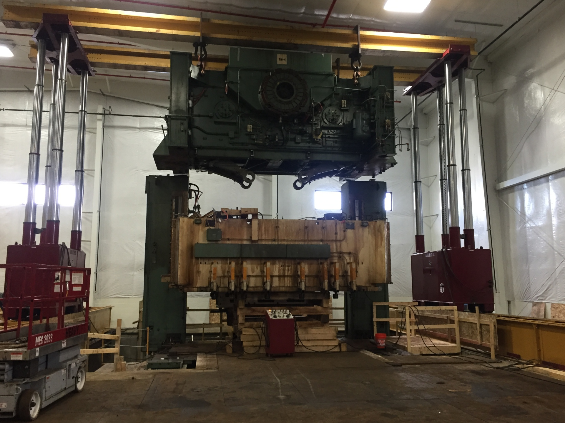 Placing crown on 1,500-ton Press.